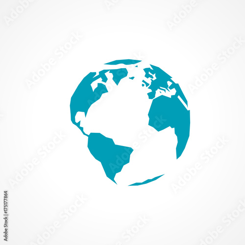 Aluminium Wereldkaarten globe terrestre vecteur