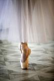 Beautiful legs of dancer in pointe - 175180294
