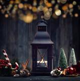 leuchtende Laterne - Weihnachtsdeko - 175181684
