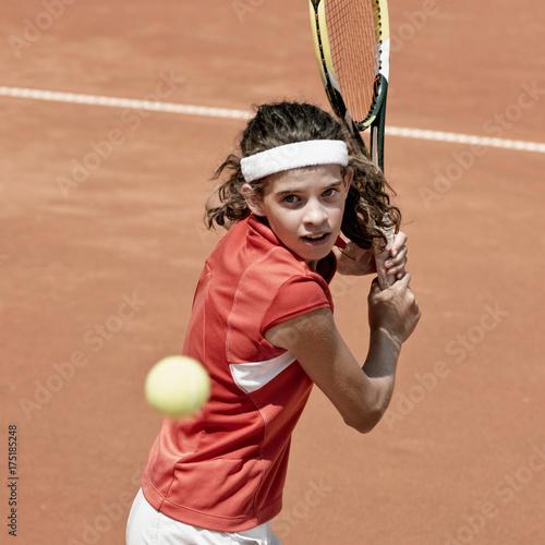 Fotobehang Tennis Tennis backhand