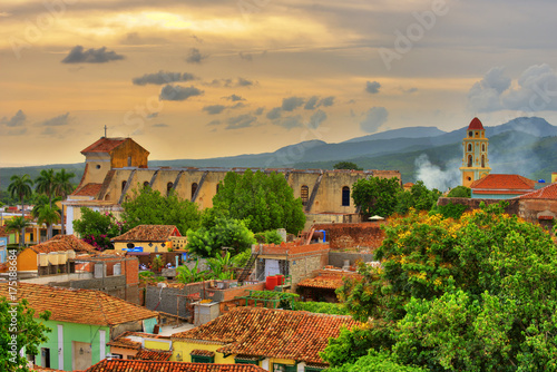 Beautiful view of Trinidad Cuba at sunset
