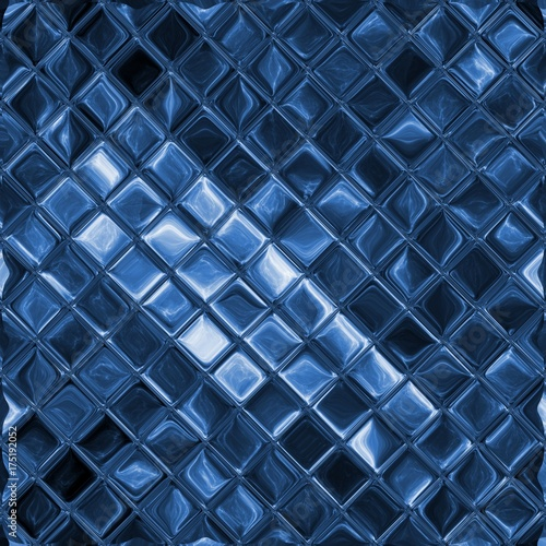 Fototapeta Blue glass mosaic background