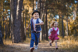 Funny kids playing in the park - 175192651