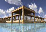 3D Rendering Egyptian Palace - 175194685