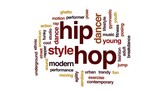 Hip hop animated word cloud, text design animation. - 175194899