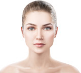 Beautiful young woman with clean healthy skin. - 175199401