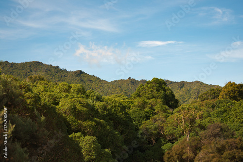 Foto op Aluminium Blauw Tararua Ranges from Waikanae, New Zealand
