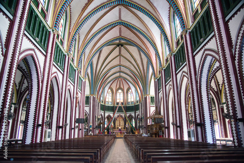 16 december 2016 Interior of Saint Marys Cathedral at Yangon, Myanmar Poster