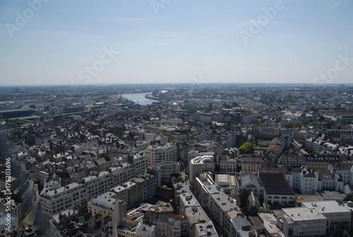 In de dag Parijs Vue de Nantes Loirs-Atlantique France
