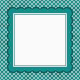 Teal and white polka dot square border with copy space - 175208025