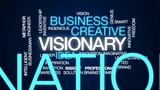 Visionary animated word cloud, text design animation. - 175211646