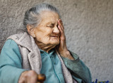 Portrait of a very old wrinkled woman