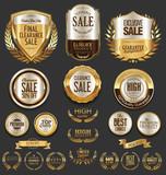 Luxury golden labels retro vintage collection