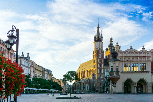 Papiers peints Cracovie KRAKOW, POLAND - August 27, 2017: street view of downtown Krakow, Poland