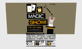 Magic Show (Flat Style Vector Illustration Quote Poster Design) Event Invitation with Venue and Time Details - 175219234