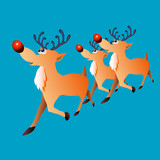 Christmas deer with a red nose - 175219446