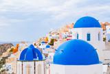 Dome of the Orthodox Church in Oia, Santorini Island, Greece - 175222210