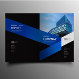 Modern corporate brochure cover with geometric shapes - 175232894