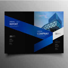 Modern corporate brochure cover with geometric shapes