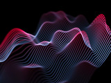 Information technology concept: abstract blue glowing waves. - 175233698