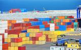Cargo container in port - 175235448
