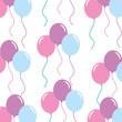 balloons decoration celebration ornate seamless pattern image vector illustration - 175235657