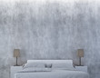 The loft bedroom and concrete wall texture interior design / 3D rendering