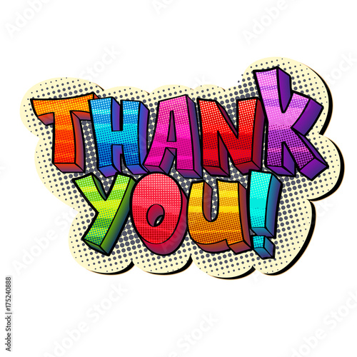 Plexiglas Pop Art thank you sticker