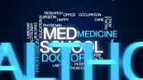 Med school animated word cloud, text design animation. - 175255092