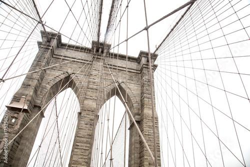 Foto op Aluminium New York New York, view of the Brooklyn Bridge