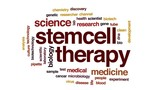 Stem cell therapy animated word cloud, text design animation. - 175261865
