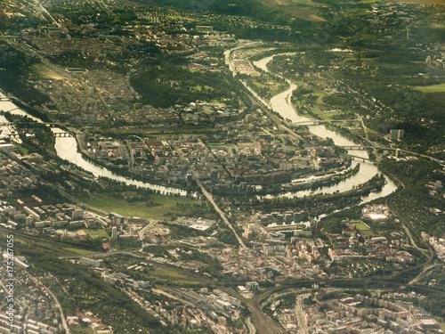 Deurstickers Praag Aerial view of Praga