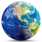 Planet Earth - America 3d rendering