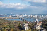 Paton Bridge across the Dnieper River in Kiev in the autumn - 175271661