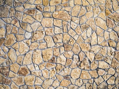 Staande foto Stenen Stone wall texture