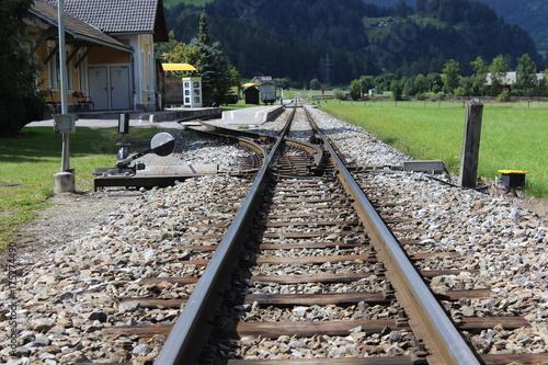 Fotobehang Spoorlijn Gleis Sankt Lorenzen ob Murau