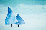 Watercolor Christmas Trees (hand painted) - 175276200