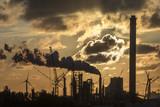 Industrial Sunset - Rotterdam - Holland poster
