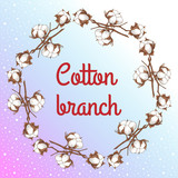 branch of a cotton - 175280053