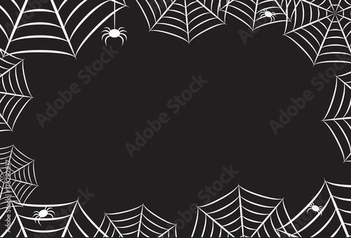 Fototapeta Spider Web Reverse Frame Border Background 1