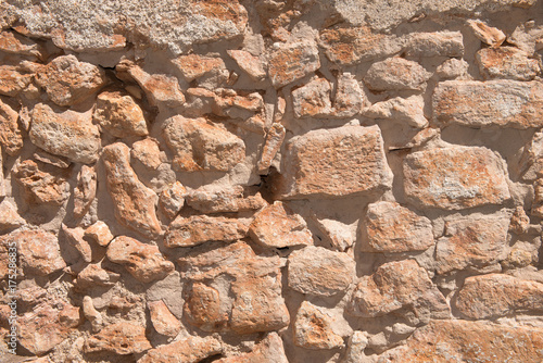 Spoed canvasdoek 2cm dik Baksteen muur Old wall made of natural stone - 5688