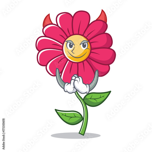 Fridge magnet Devil pink flower character cartoon