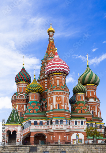 Fotobehang Moskou Saint Basil's Cathedral at Moscow, Russia.