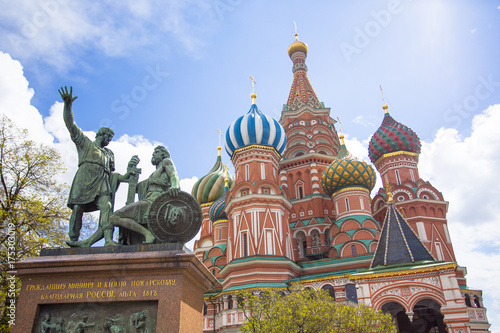 Saint Basil's Cathedral at Moscow, Russia. Poster