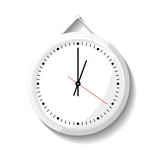 Round office wall clock icon