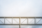 pedestrian bridge / elevated walkway isolated on sky background -  government district, Berlin - 175310483