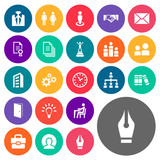 Vector Illustration Set Of Simple  Icons. Elements Attache Case, Office Work, Files And Other Synonyms User, Mechanism And Work. - 175312416