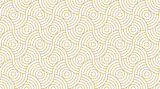 Pattern seamless circle abstract wave background stripe gold luxury color and line. Geometric line vector. - 175313842