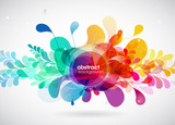 Abstract colored flower background with circles. - 175313857