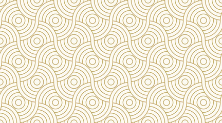 Pattern seamless circle abstract wave background stripe gold luxury color and line. Geometric line vector. © Strawberry Blossom